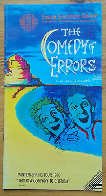 The Comedy of Errors programme Plymouth Theatre Royal 1990 ESC Shakespeare