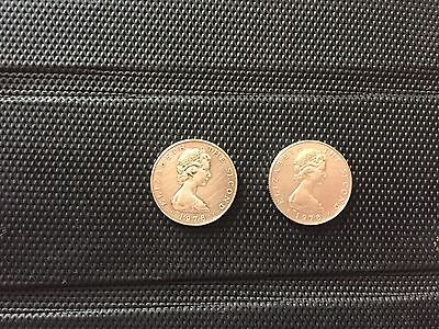 Two Isle Of Man 1978 £1 Coins