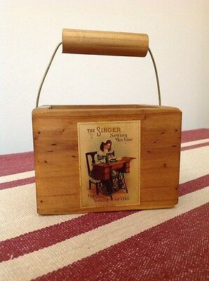 Small Sewing Box Timber Singer Decal
