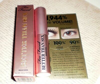 Too Faced Better Than Sex mascara deluxe mini BRAND NEW