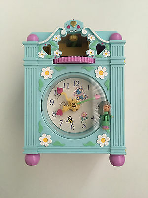 Vintage Polly Pocket 1991 Funtime Clock w/1 original doll + WORKING