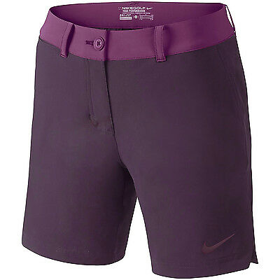 New Nike Golf Womens Greens Colorblock Stretch Shorts : Plum Purple : Size 4