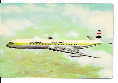 Airline issue postcard-UAA United Arab Airlines Comet 4c aircraft