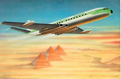Airline issue postcard-Misrair United Arab Airlines Comet 4c aircraft