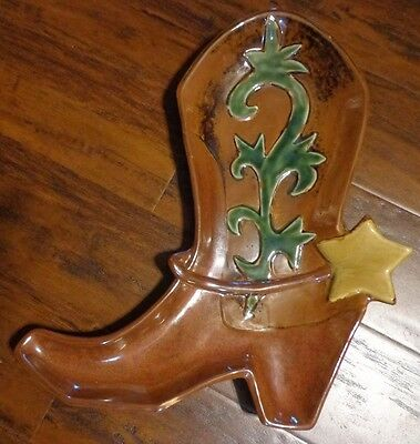 Canyon Ranch Collection Homestudio Western Cowboy Boot Serving Tray Platter