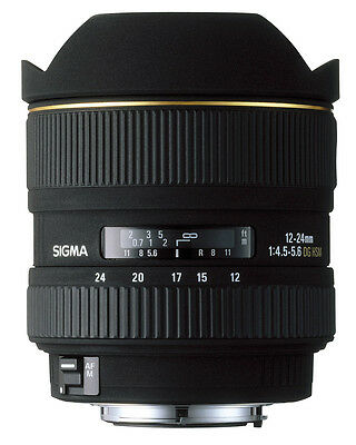 SIGMA 12-24mm 1:4.5-5.6 EX DG HSM LENS for NIKON - F/4.5-5.6 12-24 mm