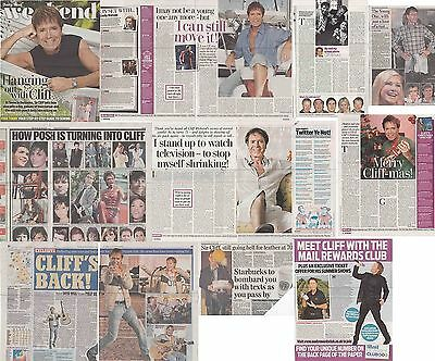 CLIFF RICHARD : CUTTINGS COLLECTION -interviews etc-