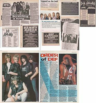 DEF LEPPARD : CUTTINGS COLLECTION -adverts interviews-