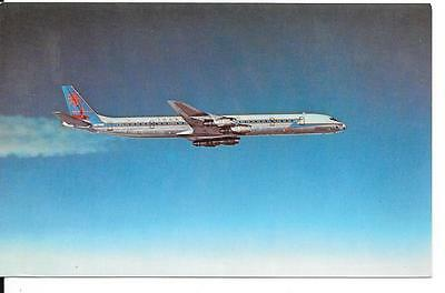Airline issue postcard-Trans Caribbean Airways DC8 aircraft