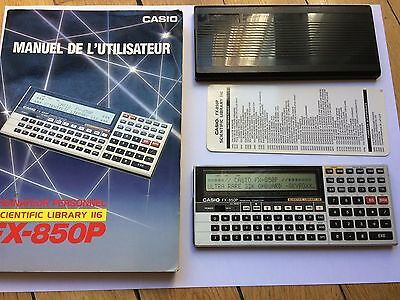 Casio FX-850P with 32 KB Pocket computer - 32K super rare like FX-880P + Manual