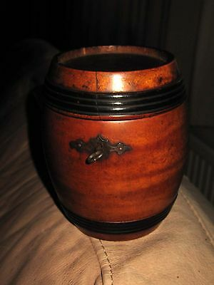 Rare Georgian Antique Treen Fruitwood Apple Wood Tea Caddy