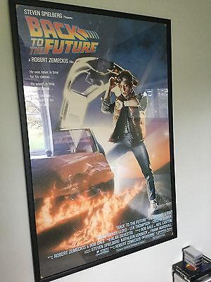 Original Back to the Future Movie Poster in Frame
