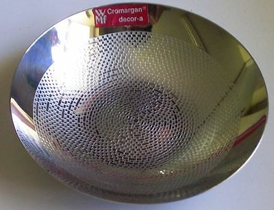 Vtg Wmf Cromargan Chrome Art Bowl Decor-A Germany Dish Geometric Pattern