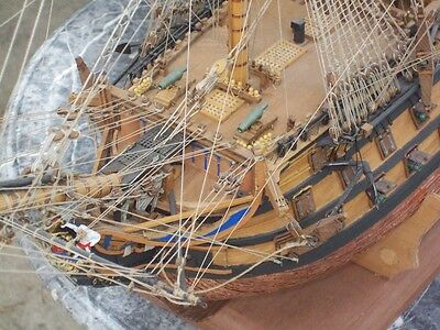 HMS Victory Wood Ship Kit with Copper Plates and ships boats by Sergal - 5
