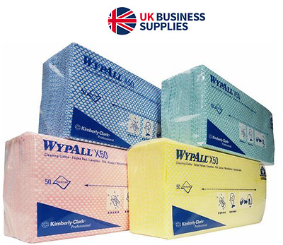 Wypall Kimberley-Clark Colour Coded Cleaning Clothes 200's from £6.24