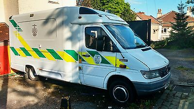 1998 MERCEDES SPRINTER 412 AMBULANCE AUTOMATIC AUTO CAMPERVAN Spares or Repairs