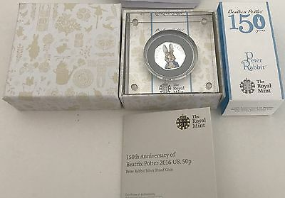 Peter Rabbit Silver Proof 2016, Royal Mint,  Limited Edition