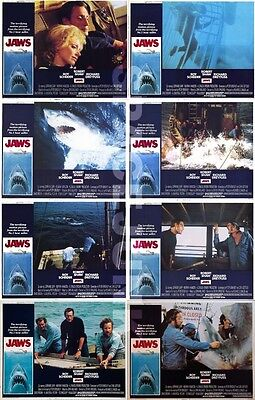 JAWS Lobby Cards (1975) Complete Set of 8 (11 x 14 Inches Version)