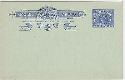 Western Australia 1911 1 ½ d blue postcard PC19 mint