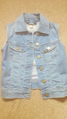 girls Lee Jeans waistcoat age 5 years