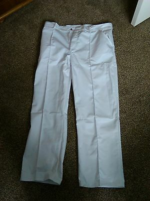 Men's white polycotton bowls trousers BRAND NEW in size 40 tall