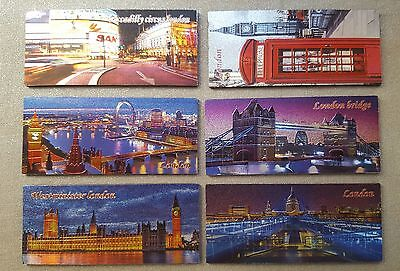 3D Metalic Fridge Magnets Set Of 6 London Icons Souvenir Free Uk Postage