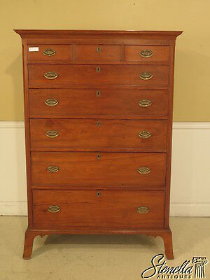 23719E: American Antique Period Early 19 C. Walnut High Chest