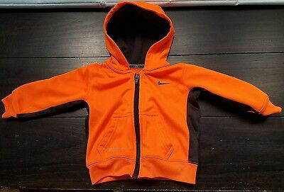 Nike Therma-Fit Boys Zip Front Hooded Jacket Size 12 Months