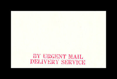 Peoples League Trail Envelope (BY URGENT MAIL DELIVERY SERVICE)