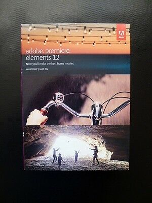 Adobe Premiere Elements 12 DVD Windows/PC VIDEO EDITING Premier 65225409 (NEW)