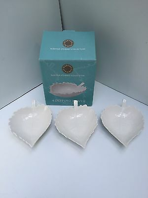 Martha Stewart Collection White Ware Dipping Bowls Leaf Shape Set of 3 Macys