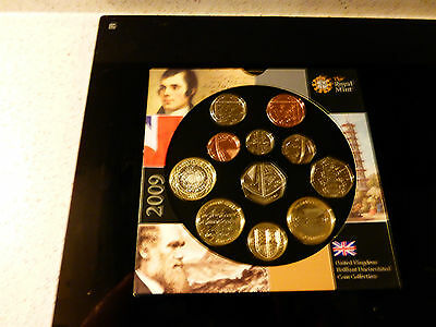 A ROYAL MINT 50p KEW GARDENS UNCIRCULATED COIN SET. CONTAINS 11 MINT COINS.