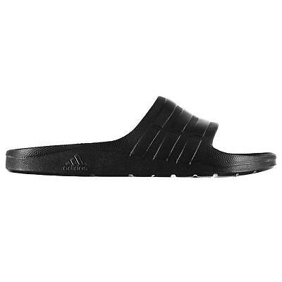 Adidas Mens Duramo Sliders Flip Flops Black New With Tags