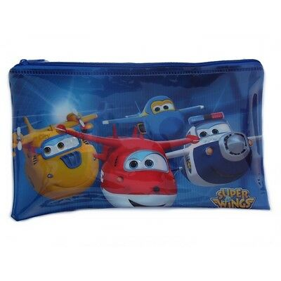 Trousse enfant Super Wings Disney 25 x 15 toilette bleu