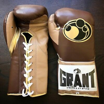 GRANT BOXING eBay Store - AUTHENTIC 10 oz Pro Fight (Puncher's) Gloves - (Brown)