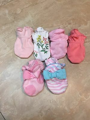 Baby Mittens Anti-scratch Infant Lot Of 6