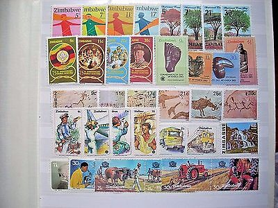 Zimbabwe 1981-3 Collection Of 10 Sets All Fine Unmounted Mint
