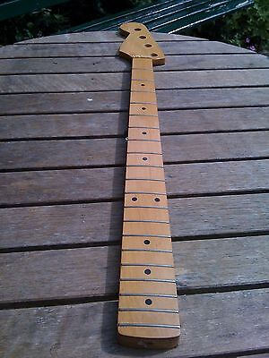 Bass guitar neck left handed Fender style headstock Project