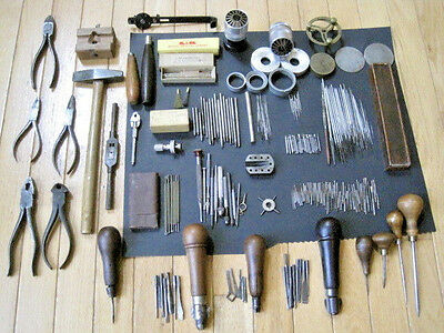 Huge Antique Vintage Watchmakers / Gunsmith / Machinist Tools Lot