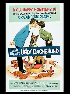 """The Ugly Dachshund 16"""" x 12"""" Reproduction Movie Poster Photograph"""