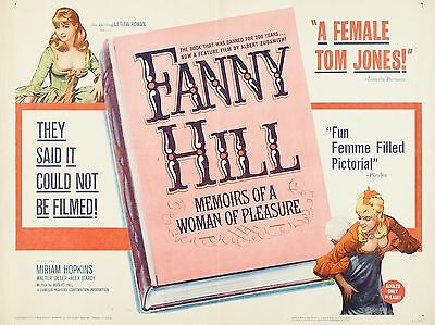 """Fanny Hill 16"""" x 12"""" Reproduction Movie Poster Photograph"""