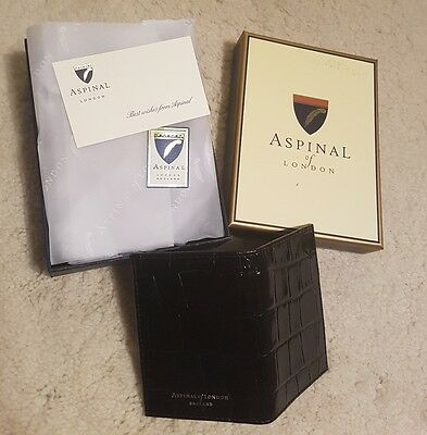 ASPINAL OF LONDON man's wallet purse ID cards holder genuine.Brand New Boxed.