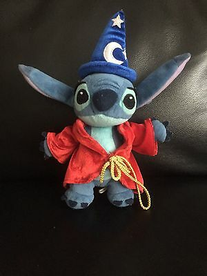 disney lilo and stitch sorcerer plush wizard magician soft toy 12""
