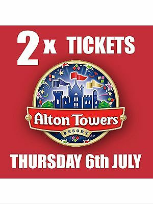 Alton Towers 2 Tickets For 6th July 2017