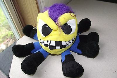 Meanies Series 1 Otis The Octapunk New With Tags Vintage 1997 Purple Hair Hanger