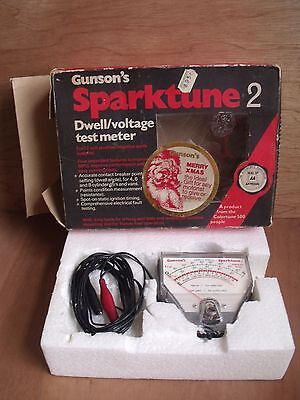 Vintage Gunson's Sparktune 2 Dwell, Voltage Test Meter Classic Car Good Unused?