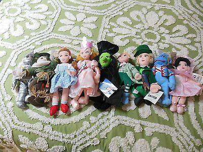 Wizard of Oz Plush Dolls lot of 9 by Warner Bros.