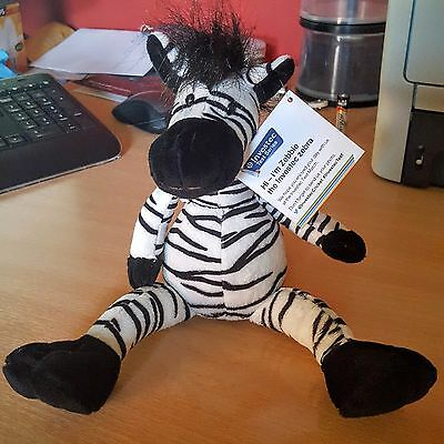 Zebbie Investec Cricket Test Series 2016 Zebra Plush Toy New with Tags