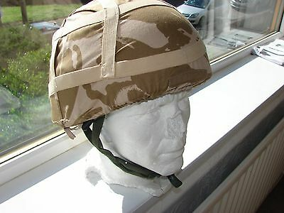 British Army Kevlar Military Helmet & Cotton Camo Camouflage Cover large