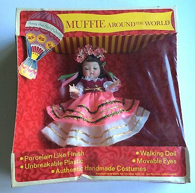 MUFFIE Around the World Doll POLAND Nancy Ann Story Book, In Unopened Dented Box